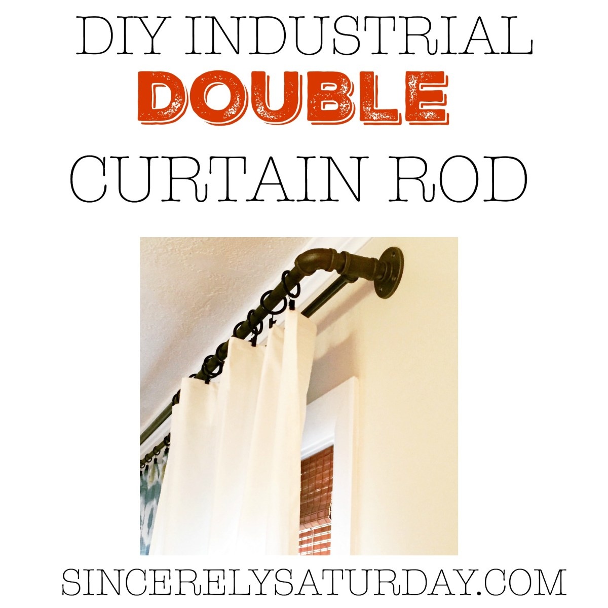 DIY INDUSTRIAL DOUBLE CONDUIT CURTAIN ROD